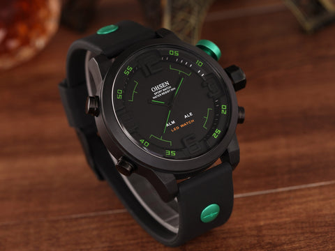 Men Quartz Watches Silicone Band