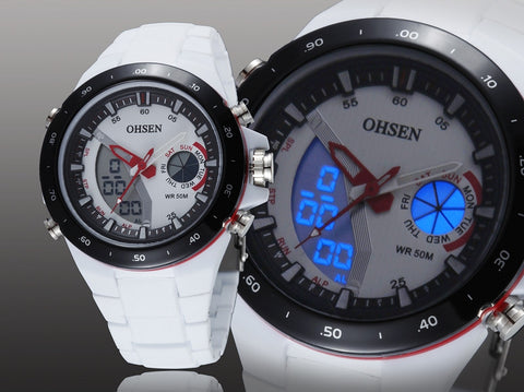 White Casual Girl Quartz Silicone Watch AD2802