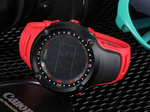 Fashion Digital Watch OHSEN 1510 Red For Kids