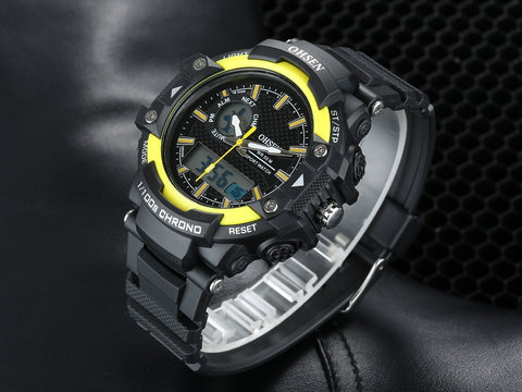 Watch For Men LED Boy's Sports Watch AD1506 Yellow Hot