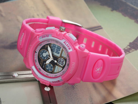 Girls Sports Watch Digital OHSEN Brand AD1502 Women's Watch