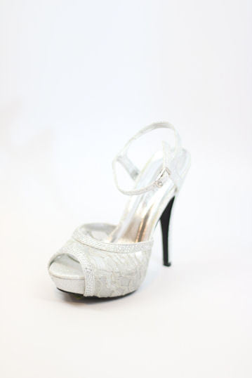 Prom Shoes Silver Style 200 81