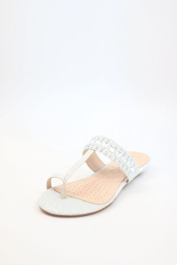 Homecoming Flats Silver Shoes (Style 200-98)