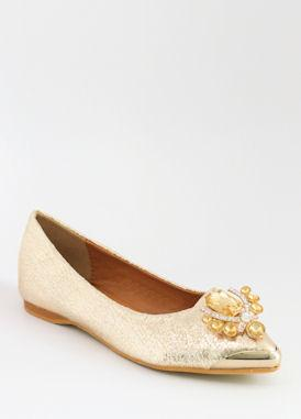 Prom Flats Gold (Style 300-16)