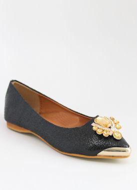Prom Flats Black (Style 300-17)