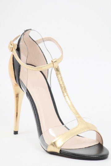 51823cc1efe Prom Shoes Gold Black (Style 300-13)
