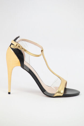Prom Shoes Gold/Black (Style 300-13)