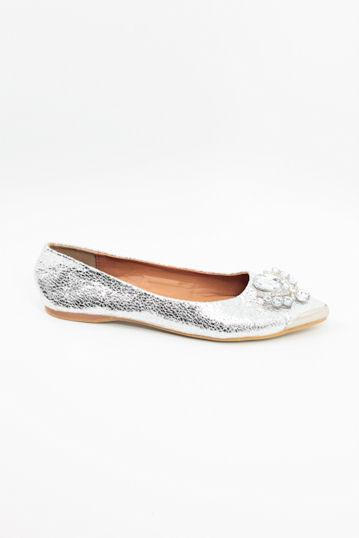 Dressy Flats Silver (Style 300-15)