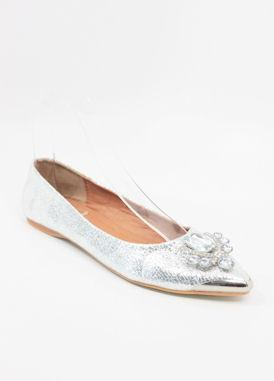 Prom Flats Silver (Style 300-15)