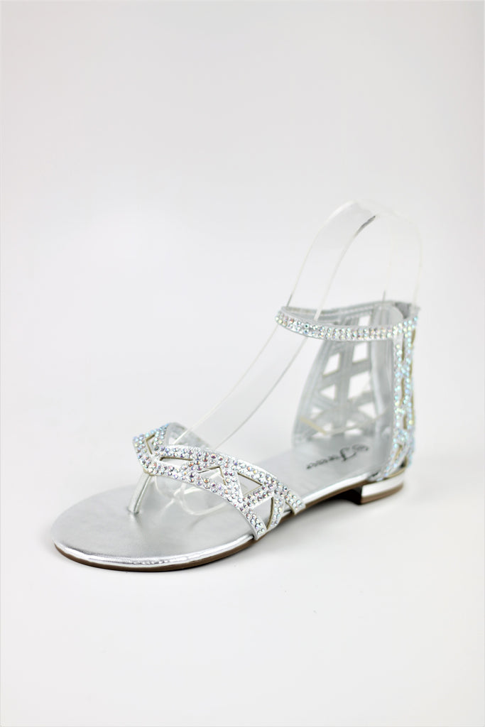 Prom Shoes Flats Silver (Style 450-2)