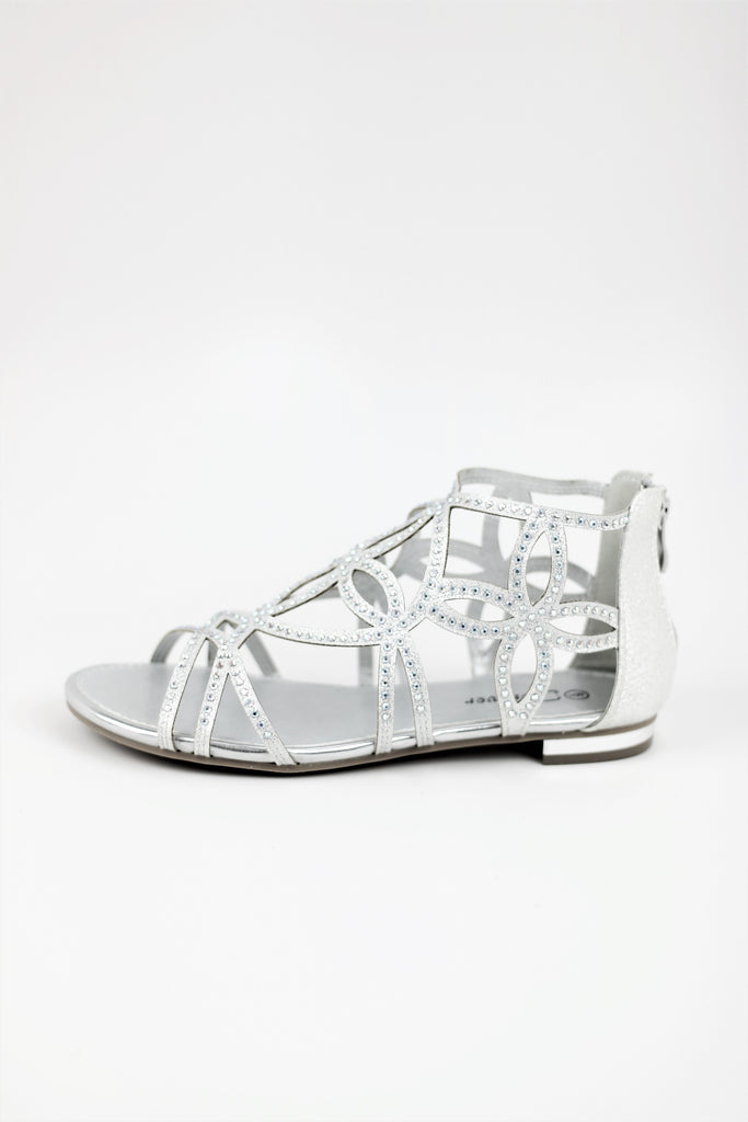 Homecoming Shoes Flats Silver (Style 450-1)