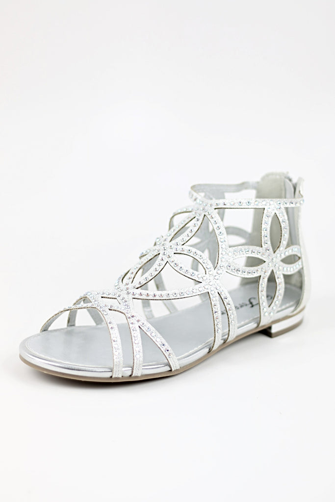 Prom Shoes Flats Silver (Style 450-1)