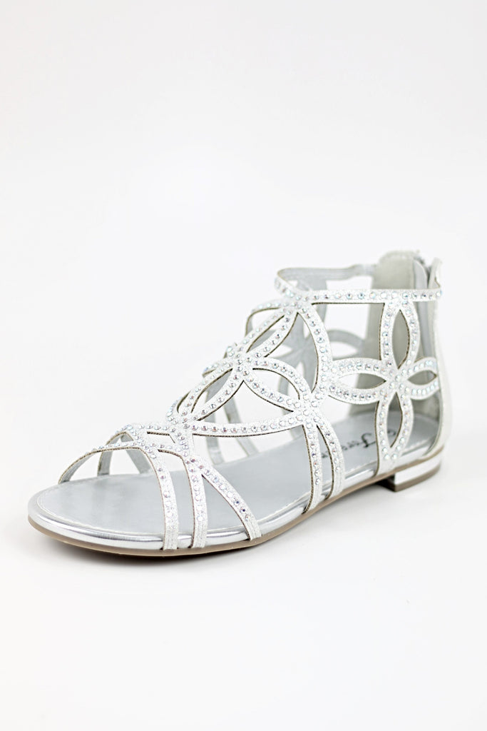 Prom Flats Silver (Style 450-1)