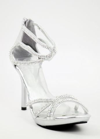 Prom Shoes Silver Style 400 9