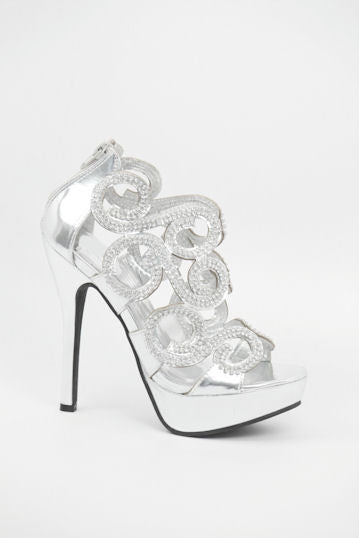 Prom Shoes Silver (Style 800-64)