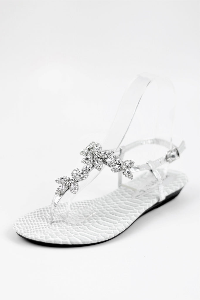 Prom Flats Silver Shoes  (Style 800-69)