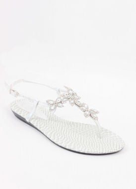Homecoming Flats Silver Shoes  (Style 800-69)
