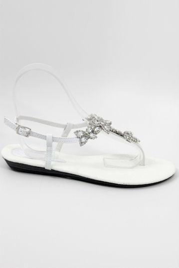 Prom Flats White (Style 800-73)