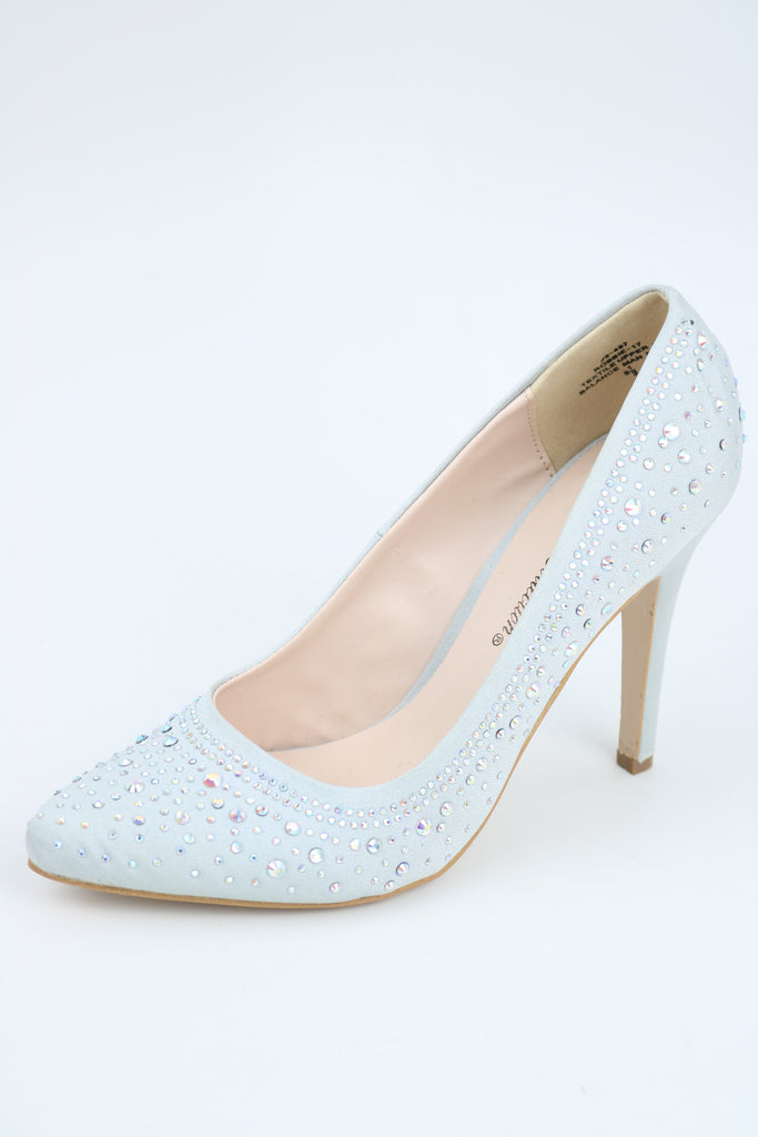 Prom Shoes Silver Pump (Style 200-86)