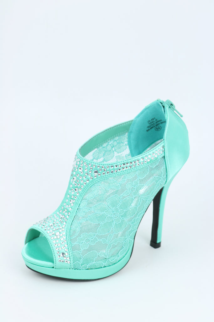 Prom Lace Shoes Mint (Style 200-72)