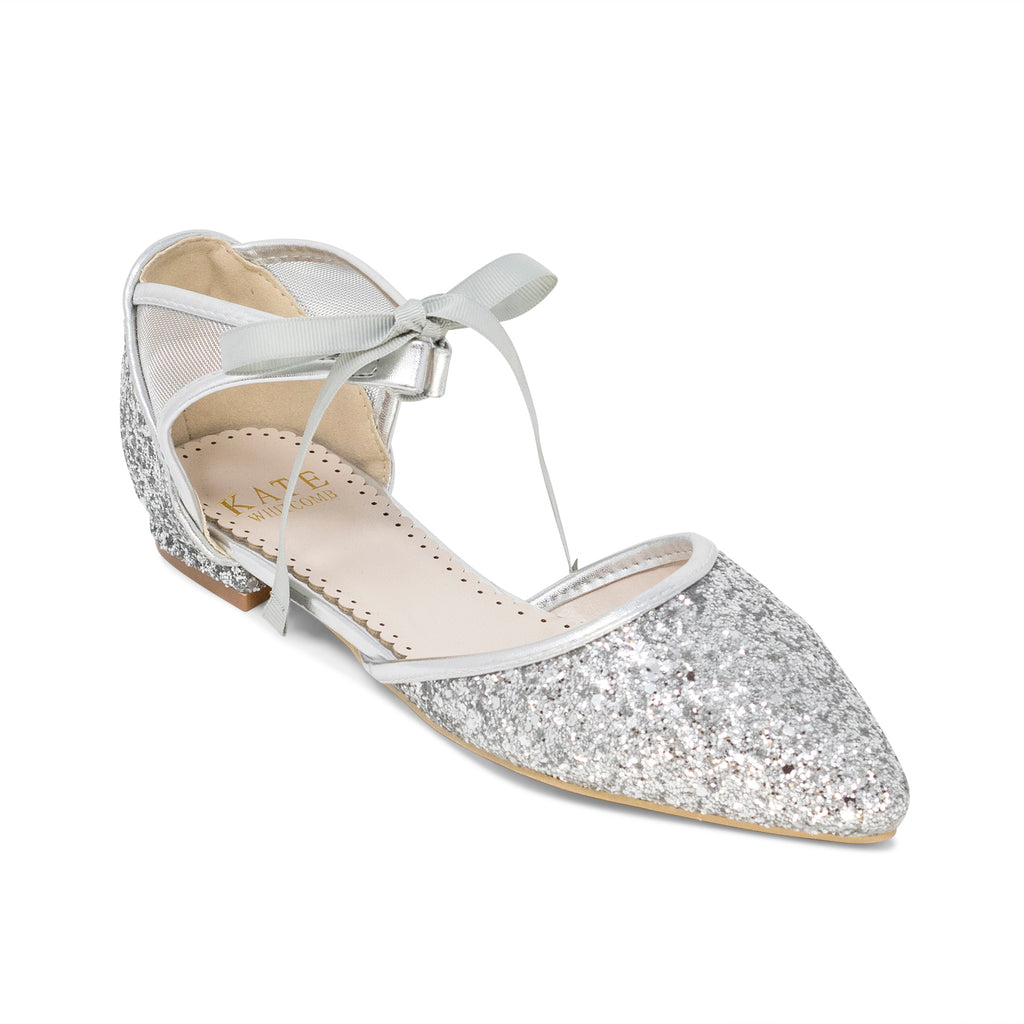 Prom Flats Silver (Style 125-18)