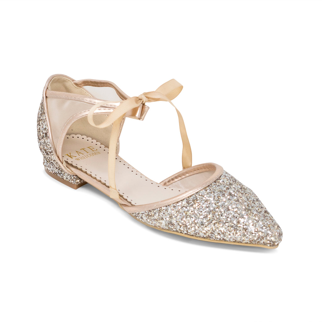Prom Flats Rose Gold (Style 125-19)
