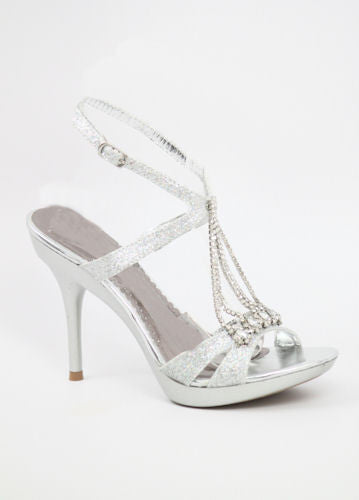 Prom Silver Shoes (Style 200-28)