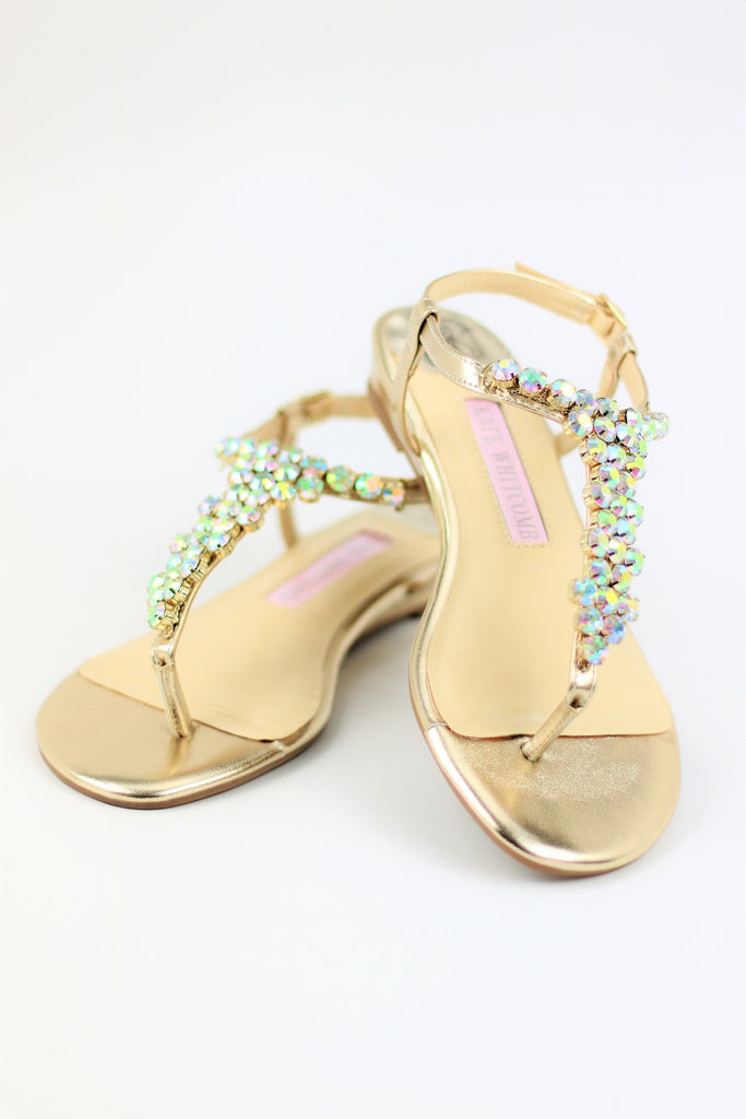 Dressy Flats Gold (Style 125-2)