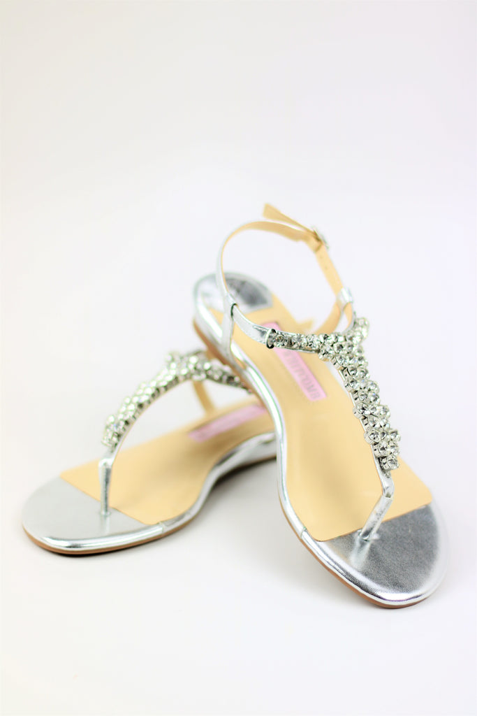 Homecoming Flats Silver (Style 125-1)