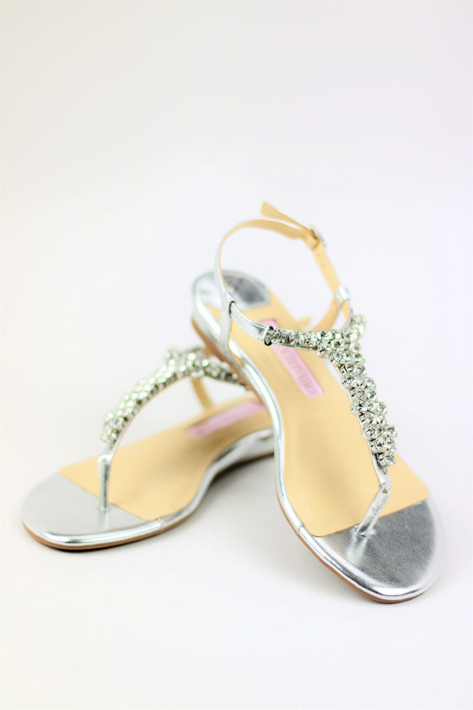 Prom Flats Silver (Style 125-1)