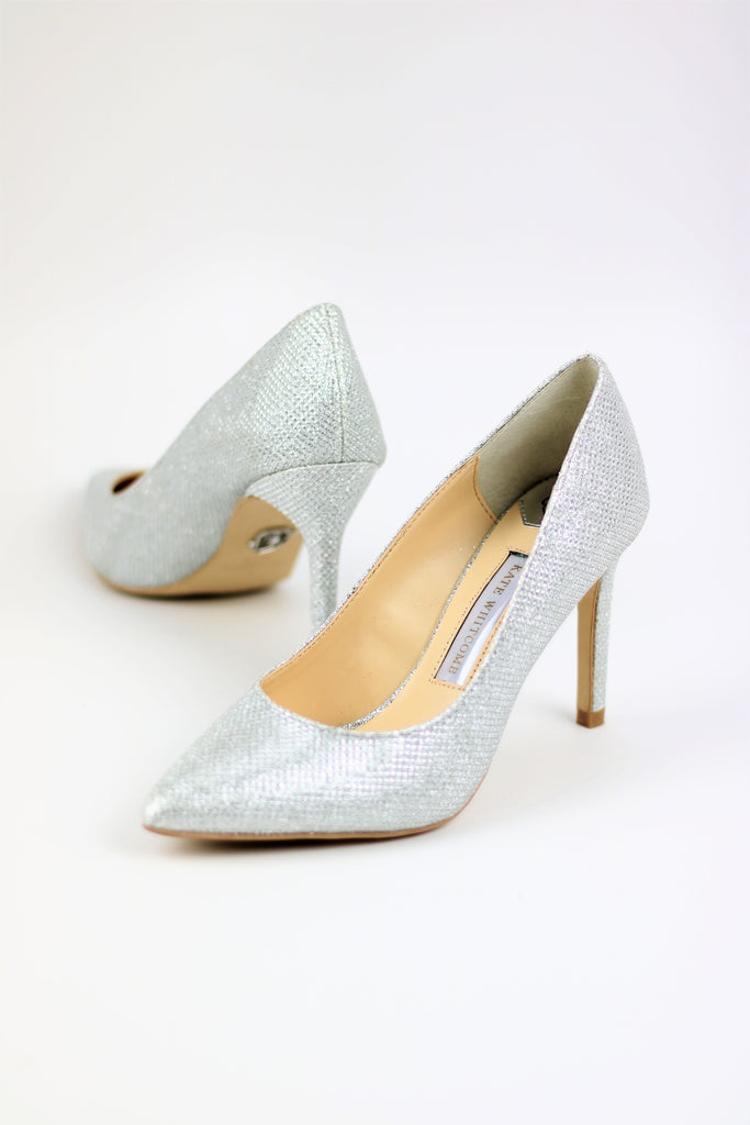 Prom Shoes Silver Glitter Pump (Style Eva)