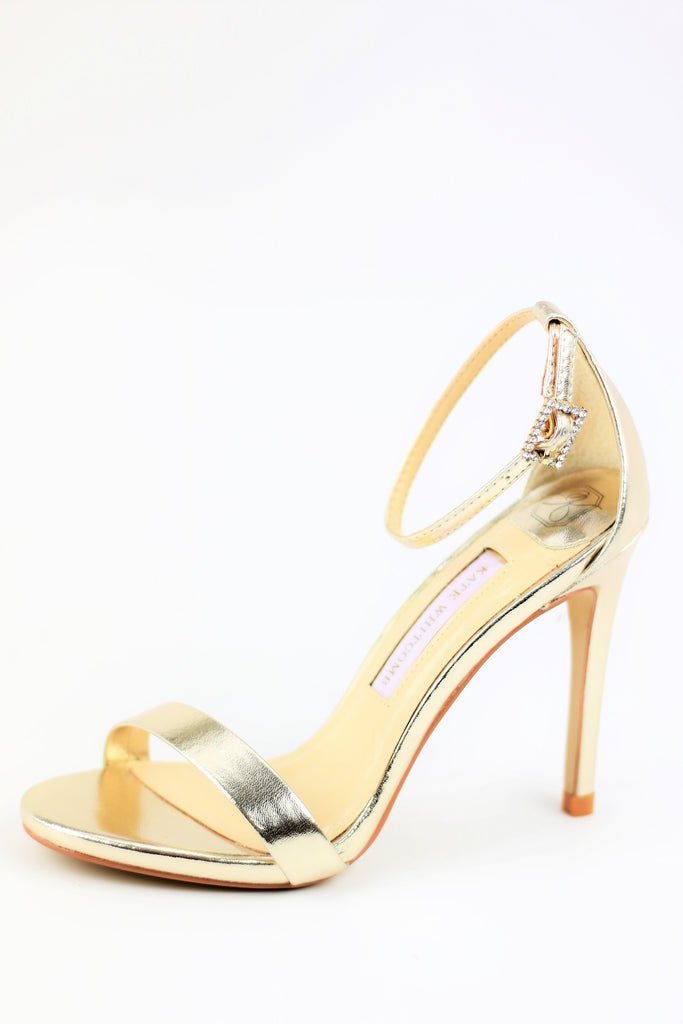 Prom Shoes - Gold Sandals (Style Sam)
