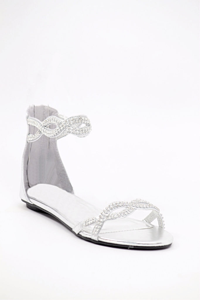 Silver Flats For Wedding.Wedding Flats Silver Style 800 45