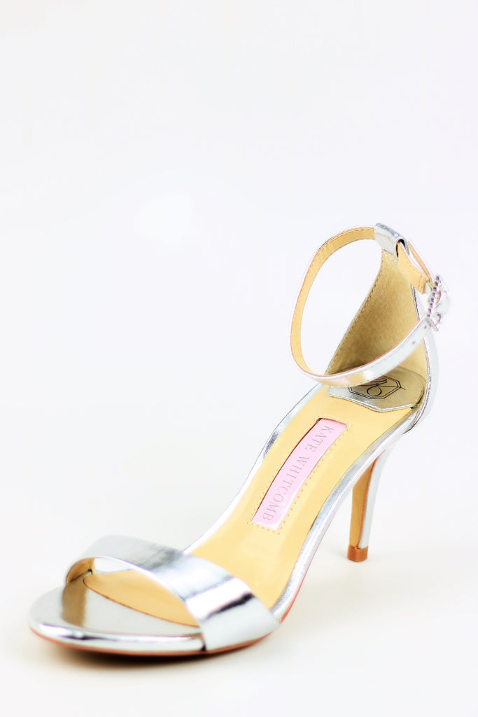Homecoming Shoes - Silver Sandals (Style Vera)