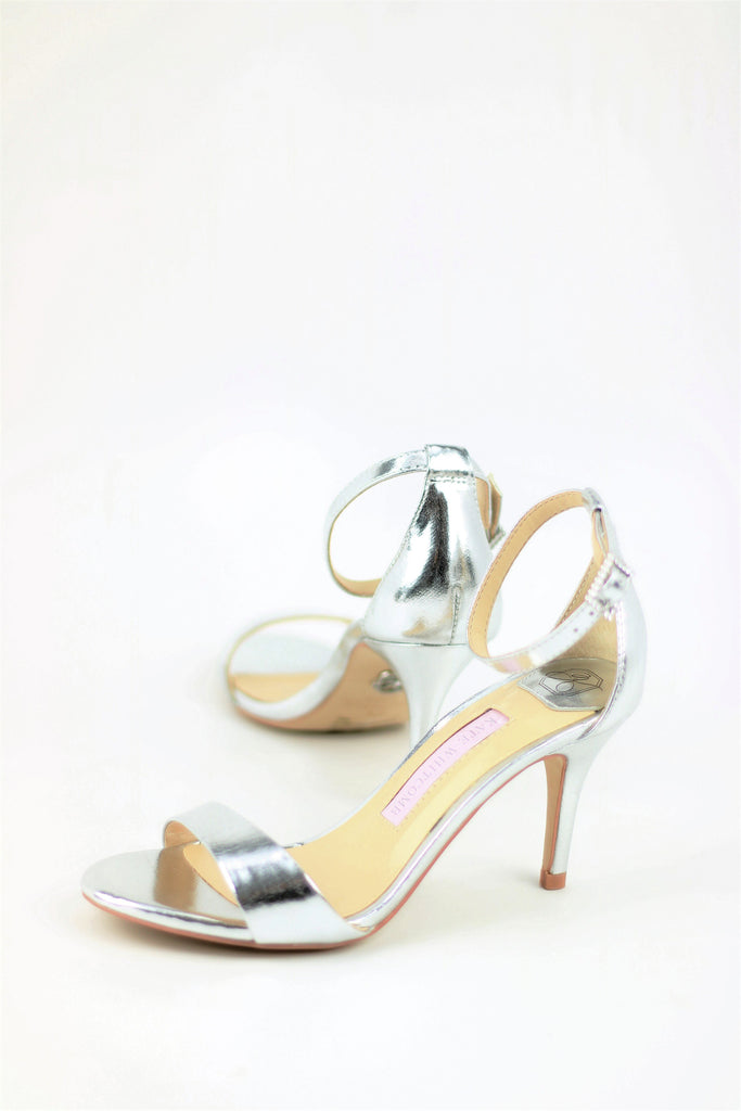 Prom Shoes - Silver Sandals (Style Vera)