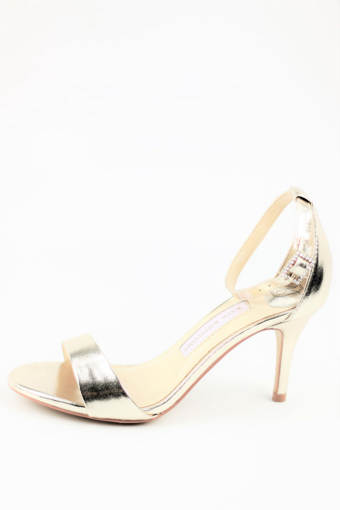 Prom Shoes - Gold Sandals (Style Vera)