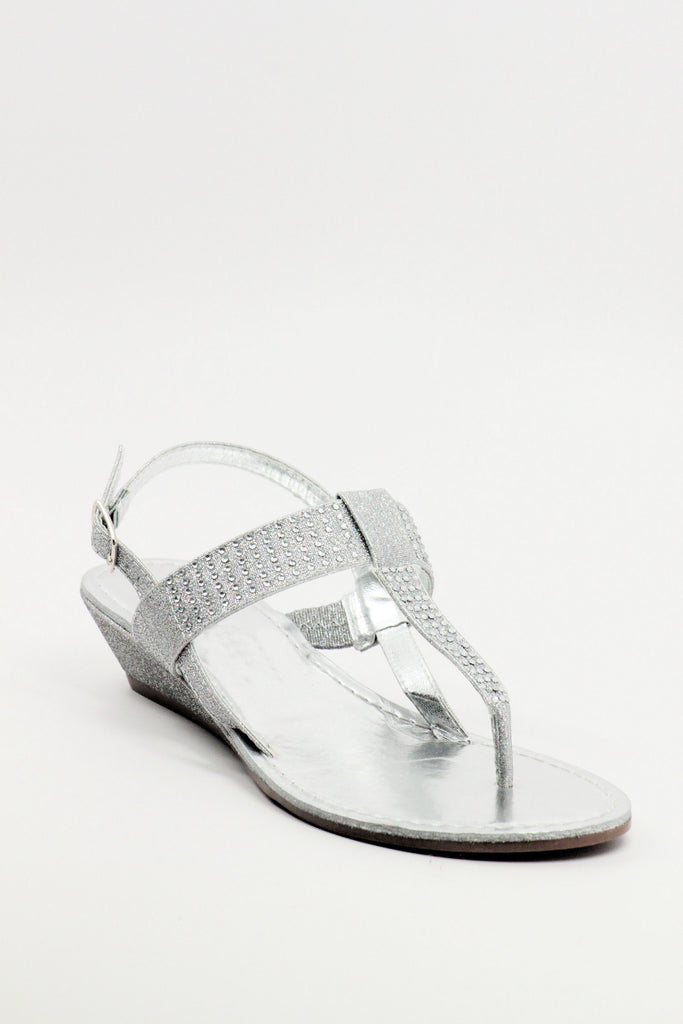 Homecoming Flats Silver Shoes (Style 200-50)
