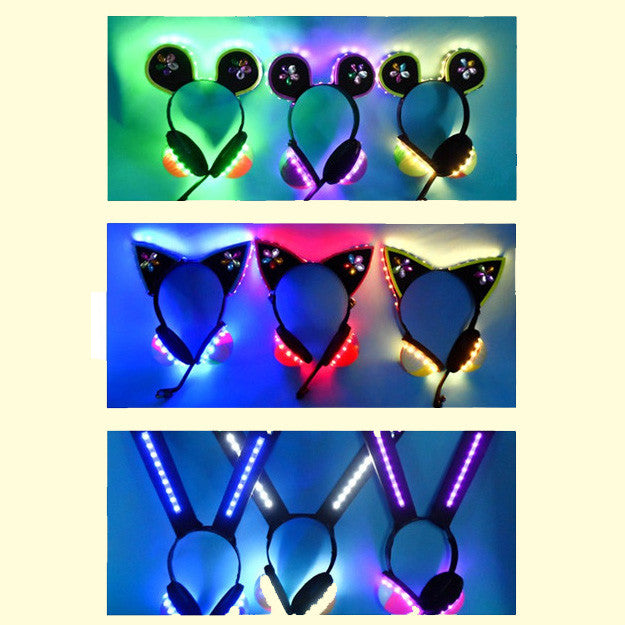 Cosplay Love Live LoveLive Light Up LED Cyber Headphones OC00034