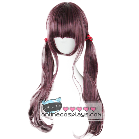 Lolita Purple / Brown Long Wavy Wig OC1024