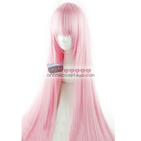 Pink Long Straight Wig OC1046