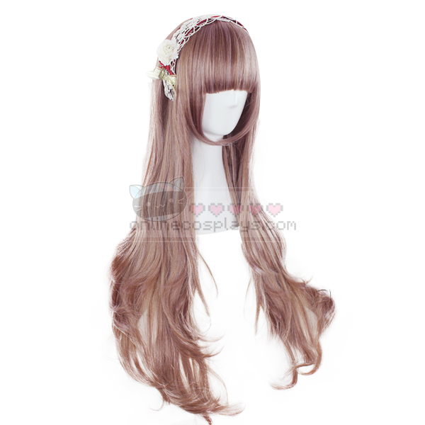 Harajuku Brown and Pink Blend Cosplay Wig OC1138