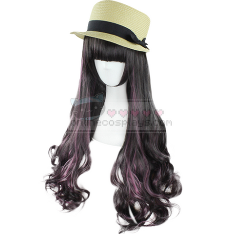 Red and Black Gradient Mixed Wig OC1028