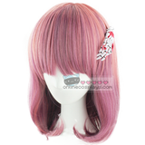 Harajuku Purple Pink Mixed Short Wig OC1488