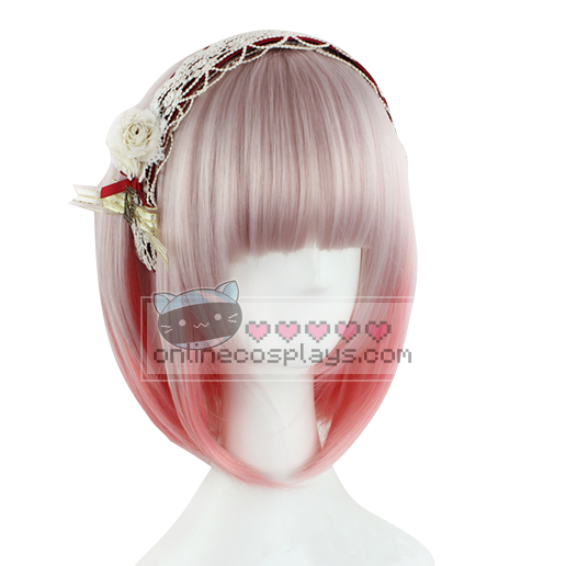 Cherry Pink Purple Gradient Short Wig OC1608