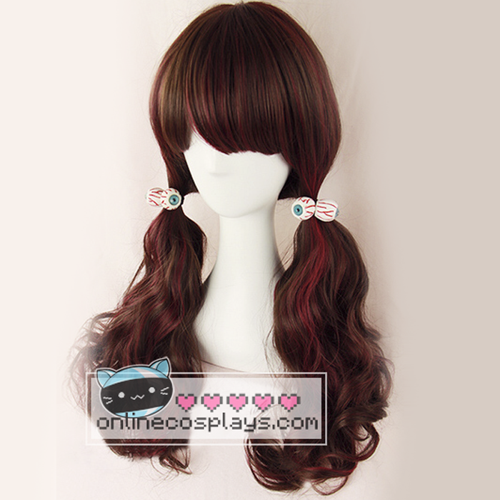 Dark brown / Red Mixed Wig OC1954