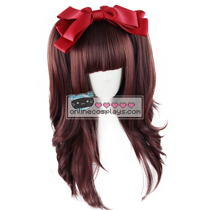Lolita Red / Brown Mixed Double Pony Tail Straight Wig OC1983
