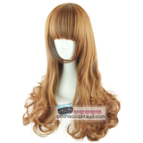 Natural Brown Curly Long Wig OC2081