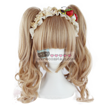 Honey Brown Lolita Double Pony Tail Curly Wig OC2281