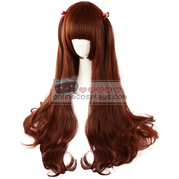 Red Brown Curly Long Wig OC2395