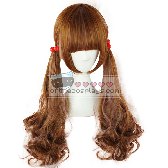 Natural Brown Orange Wig OC2548